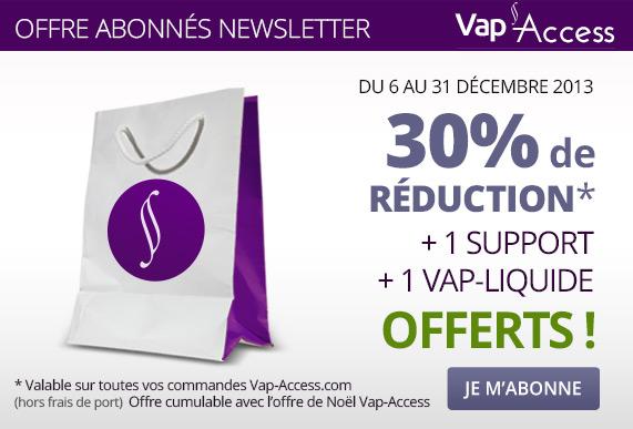 offre vap access support cigarette et liquide offerts
